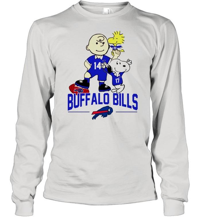Snoopy and Charlie Brown Buffalo Bills shirt Long Sleeved T-shirt