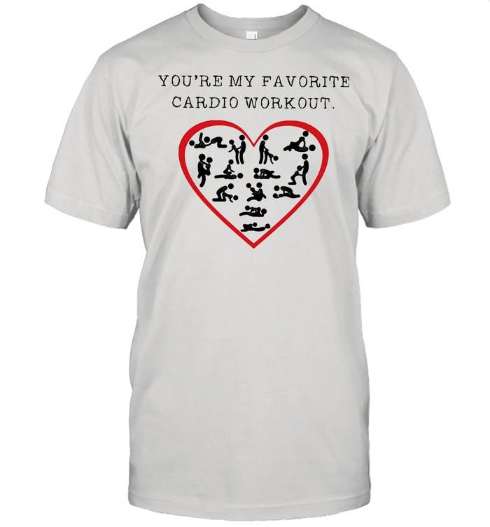 You're My Favourite Cardio Workout Heart shirt Classic Men's T-shirt