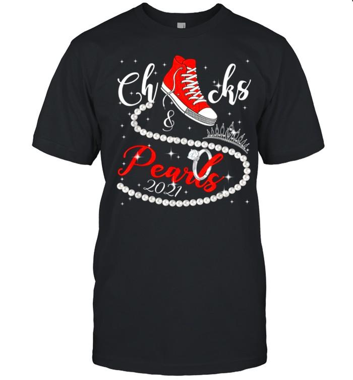 Diamond Ring And Crown Converse Chucks And Pearls With Kamala Harris 2021 shirt