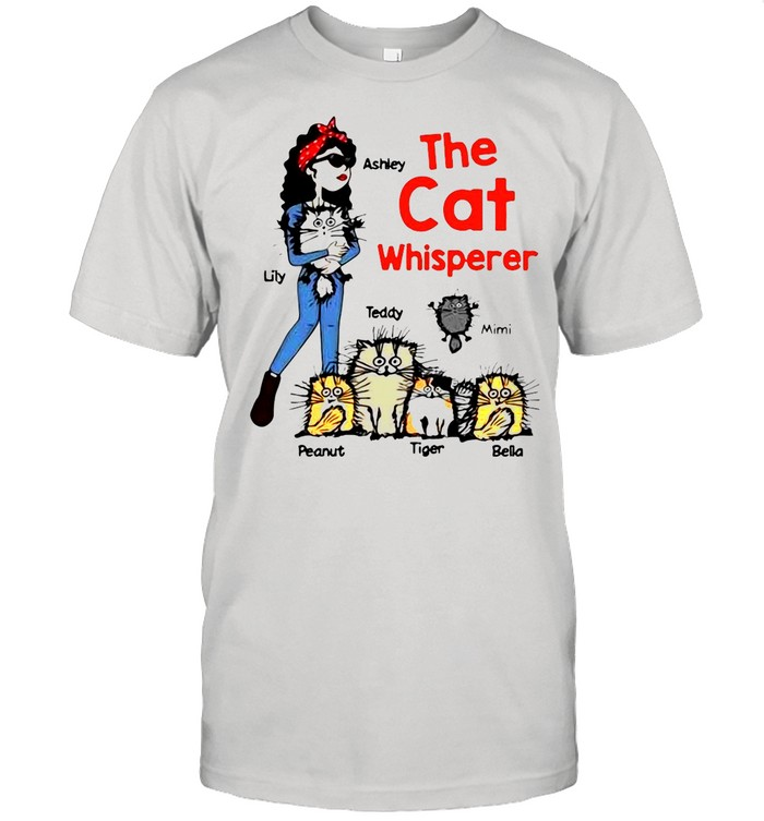 The Cat Whisperer Woman And Funny Cats Personalized shirt Classic Men's T-shirt