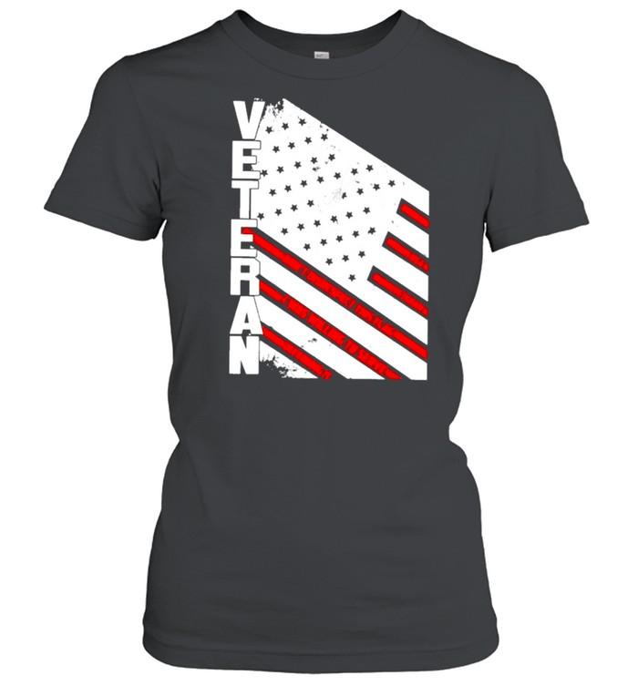 Veteran American flag 2021 shirt Classic Women's T-shirt