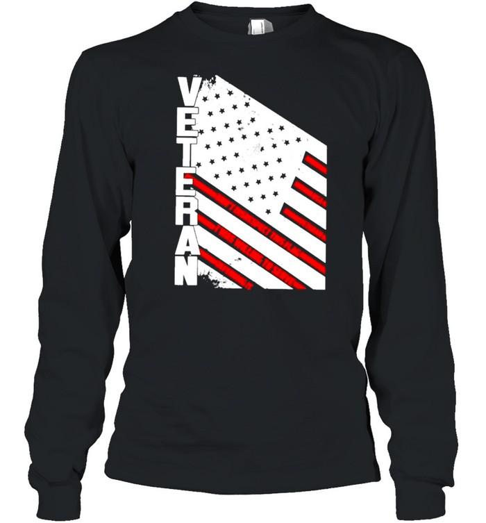 Veteran American flag 2021 shirt Long Sleeved T-shirt