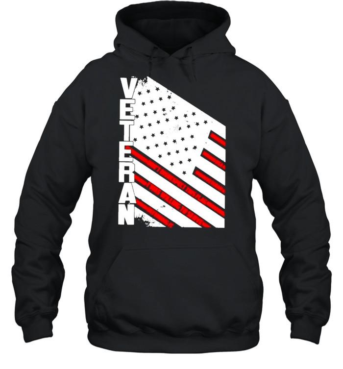 Veteran American flag 2021 shirt Unisex Hoodie
