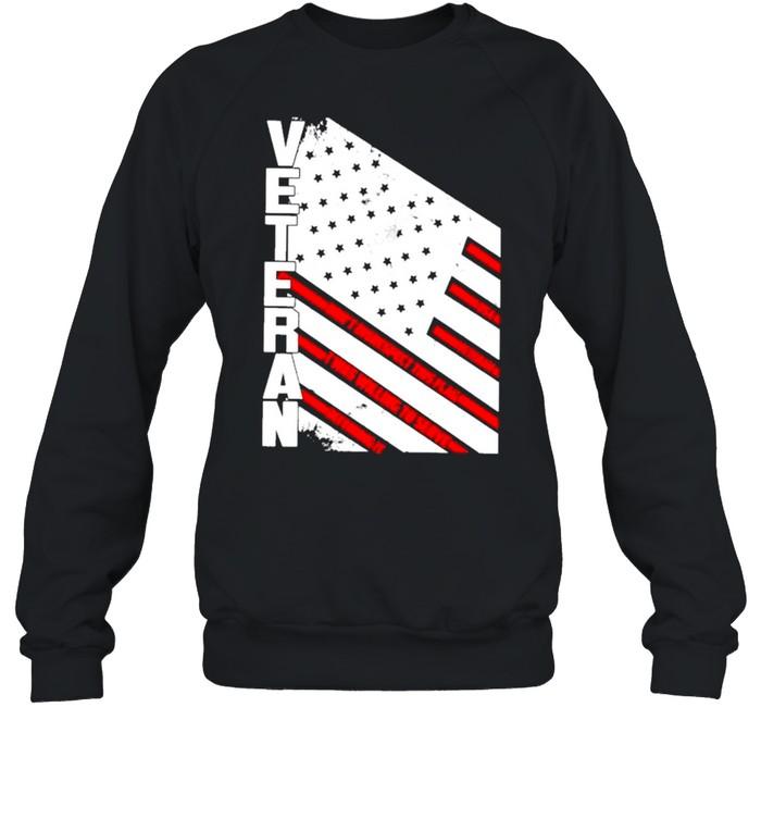 Veteran American flag 2021 shirt Unisex Sweatshirt