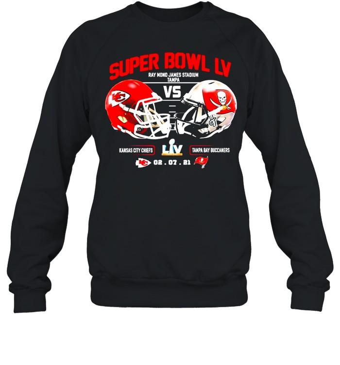 2021 Kansas City Chiefs Vs Tampa Bay Bucceeners Super Bowl LV Final NFL Classic shirt Unisex Sweatshirt