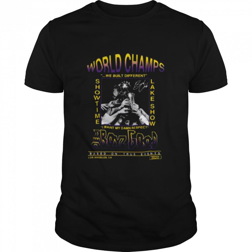 Los Angeles Lakers World Champions We Built Different Showtime Lake Show Dem Boyz Good shirt Classic Men's T-shirt