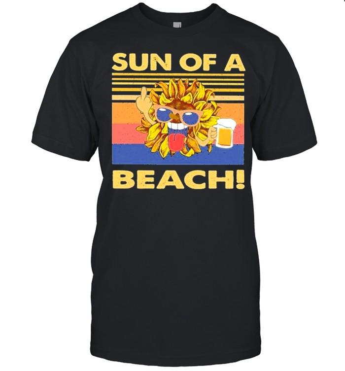 Sun of a Beach Beer vintage shirt Classic Men's T-shirt