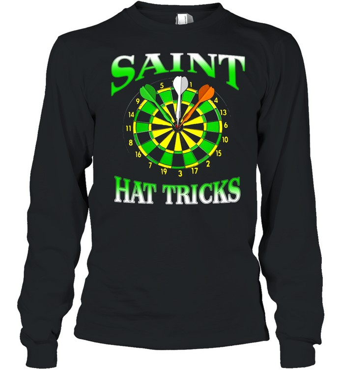 Darts Saint Hat Trick Irish St Patrick's Day shirt Long Sleeved T-shirt