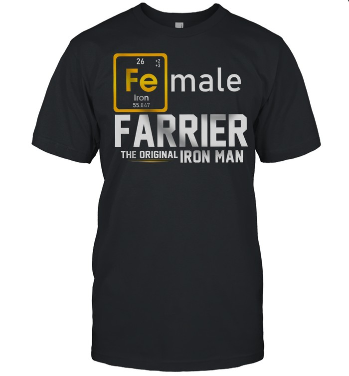 Female Farrier The Original Iron Man shirt Classic Men's T-shirt