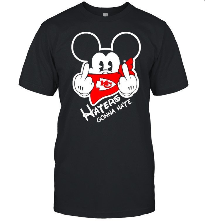 Mickey Mouse haters gonna hate Kansas City Chiefs shirt Classic Men's T-shirt