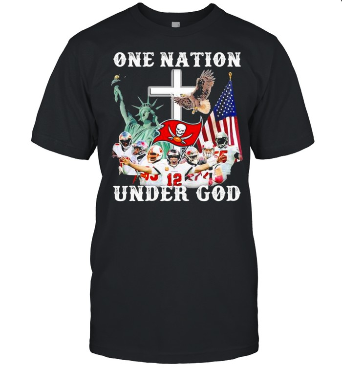 One Nation Under God American Flag Tampa Bay Buccaneers shirt