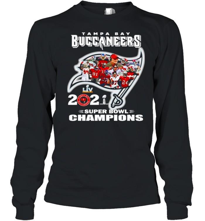 Tampa Bay Buccaneers 2021 super bowl champions shirt Long Sleeved T-shirt