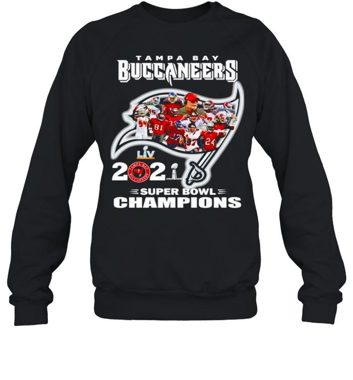 Tampa Bay Buccaneers 2021 super bowl champions shirt Unisex Sweatshirt