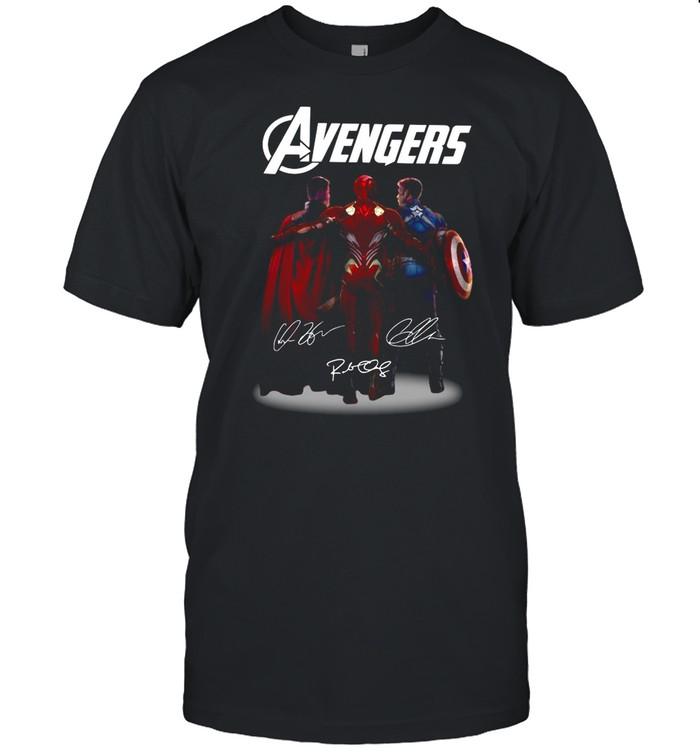 Avengers Thor Iron Man Captain America signatures shirt Classic Men's T-shirt