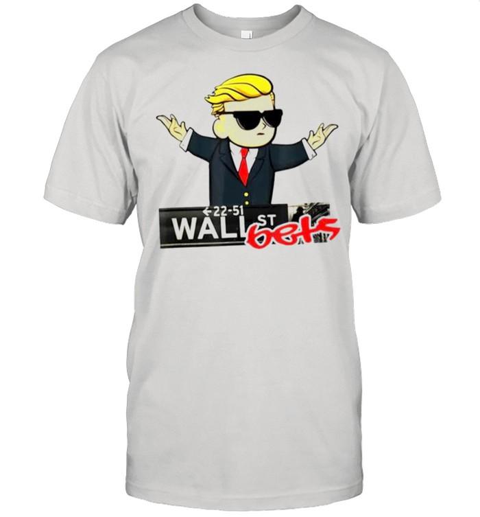Donald Trump 22 51 wall st bets shirt Classic Men's T-shirt