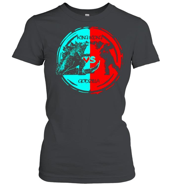 King kong vs Godzilla fight 2021 vintage shirt Classic Women's T-shirt