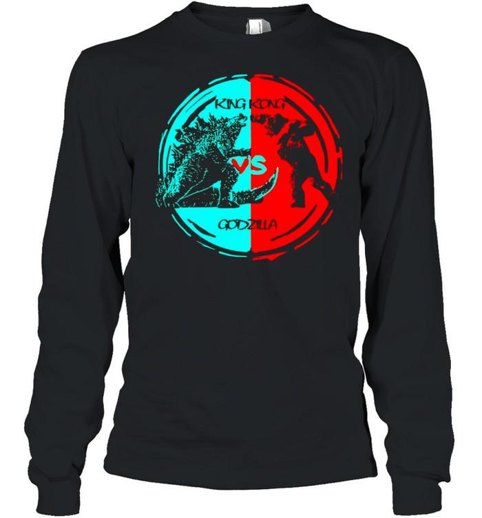 King kong vs Godzilla fight 2021 vintage shirt Long Sleeved T-shirt