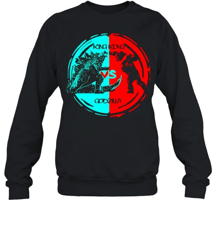 King kong vs Godzilla fight 2021 vintage shirt Unisex Sweatshirt