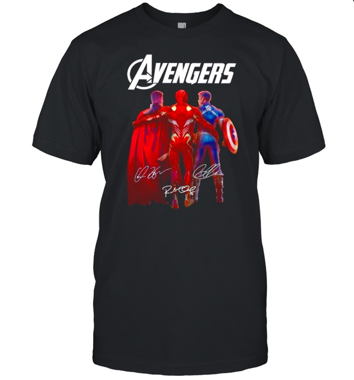 The Marvel Avengers Iron Man Chris Evans And Thor 2021 Signatures shirt