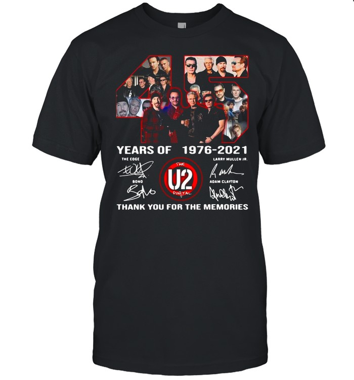 The U2 Portal 45 years of 1976-2021 thank you for the memories signatures shirt Classic Men's T-shirt