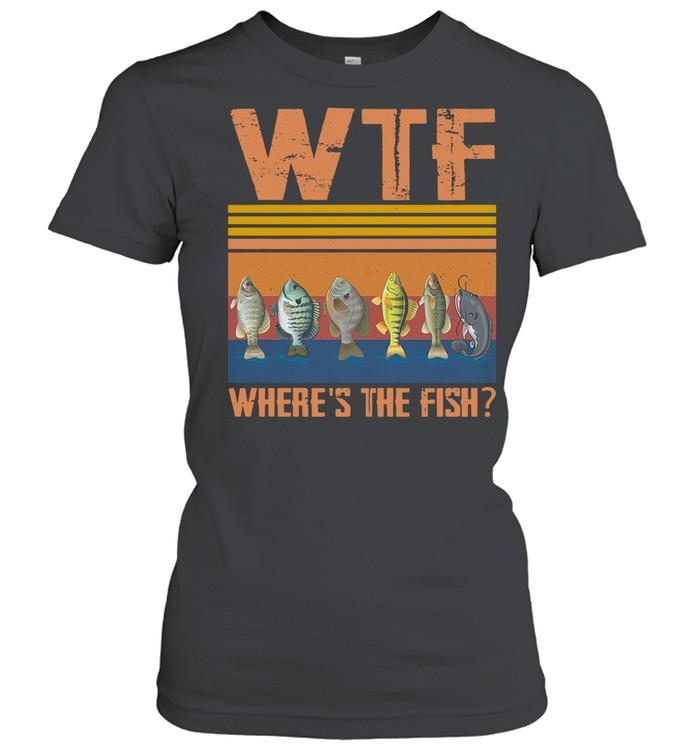 Retro Wtf Where's The Fish Vintage Retro 2021 shirt Classic Women's T-shirt