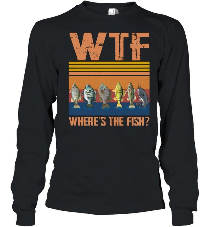 Retro Wtf Where's The Fish Vintage Retro 2021 shirt Long Sleeved T-shirt