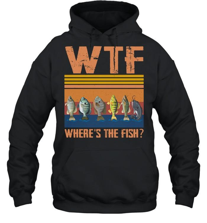 Retro Wtf Where's The Fish Vintage Retro 2021 shirt Unisex Hoodie