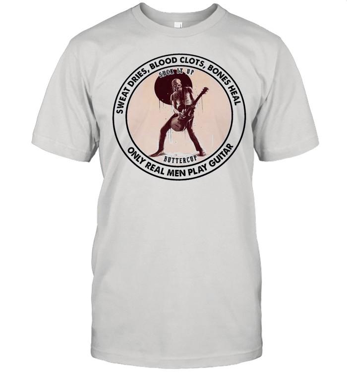 Skeleton Play Guitar Sweat Dries Blood Clots Bones Heal shirt Classic Men's T-shirt