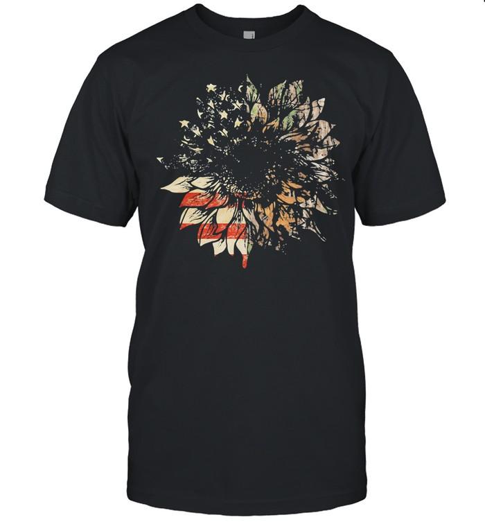American Hunter Sunflower Flag shirt Classic Men's T-shirt