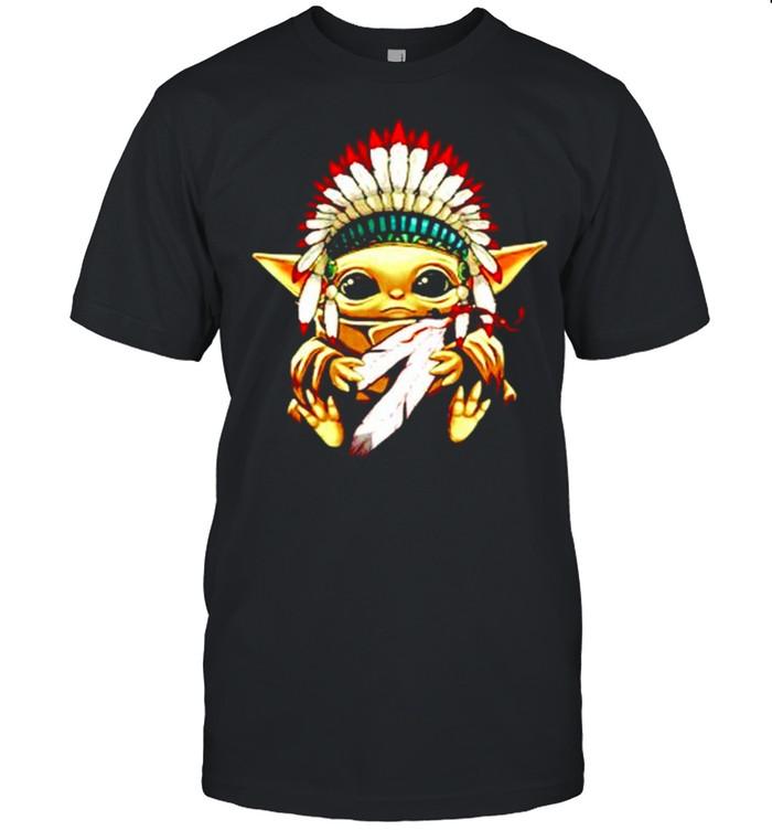 Baby Yoda native American shirt Classic Men's T-shirt