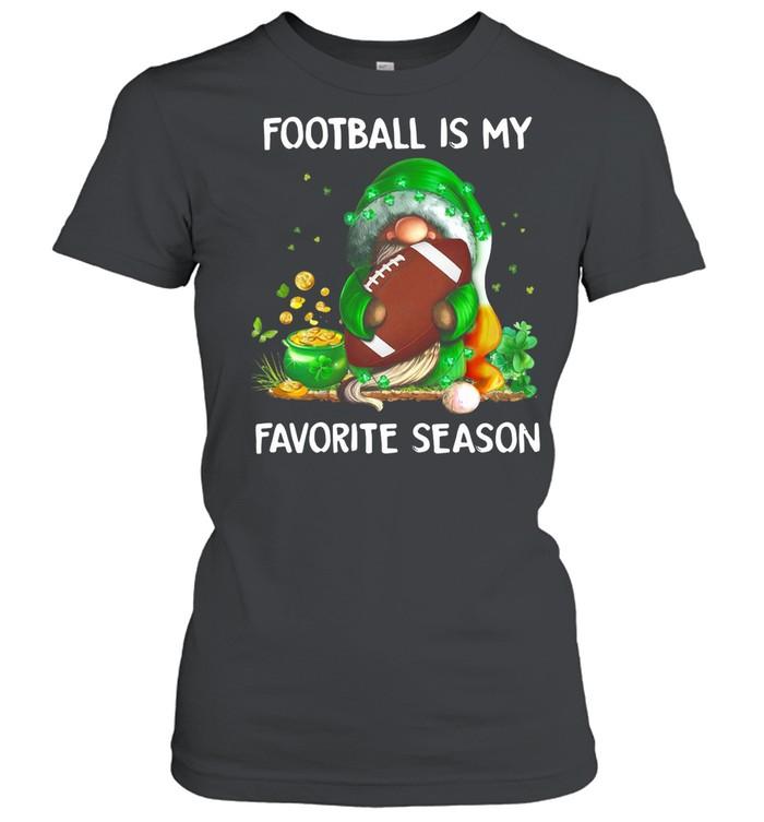 Gnome football is my favorite season St Patricks Day shirt Classic Women's T-shirt