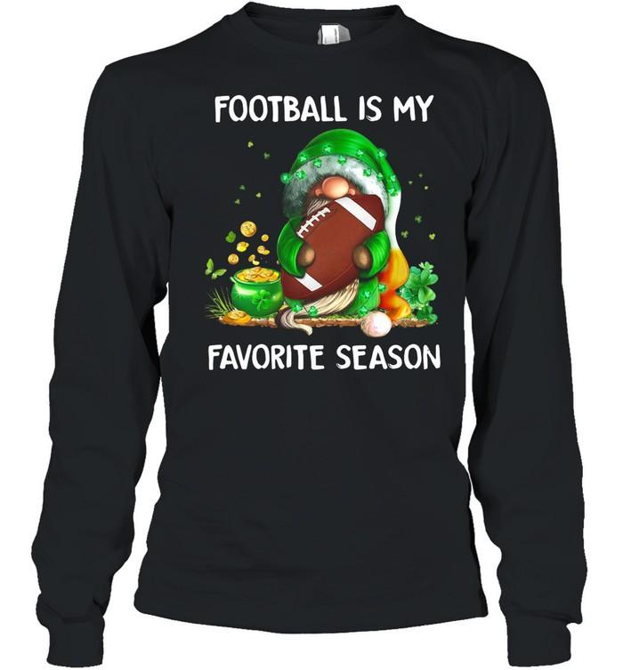 Gnome football is my favorite season St Patricks Day shirt Long Sleeved T-shirt