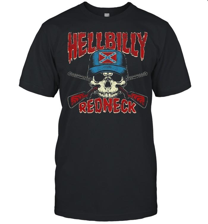 Hellbilly Redneck Skull Sun shirt Classic Men's T-shirt
