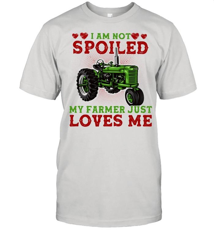I Am Not Spoiled My Farmer Just Loves Me Truck shirt Classic Men's T-shirt