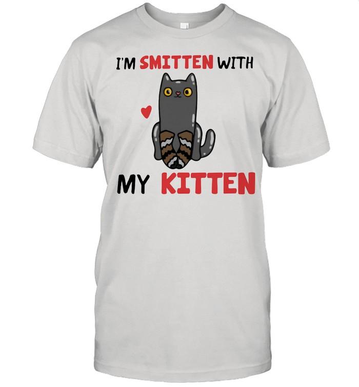 I'm Smitten With My Kitten Cat shirt Classic Men's T-shirt