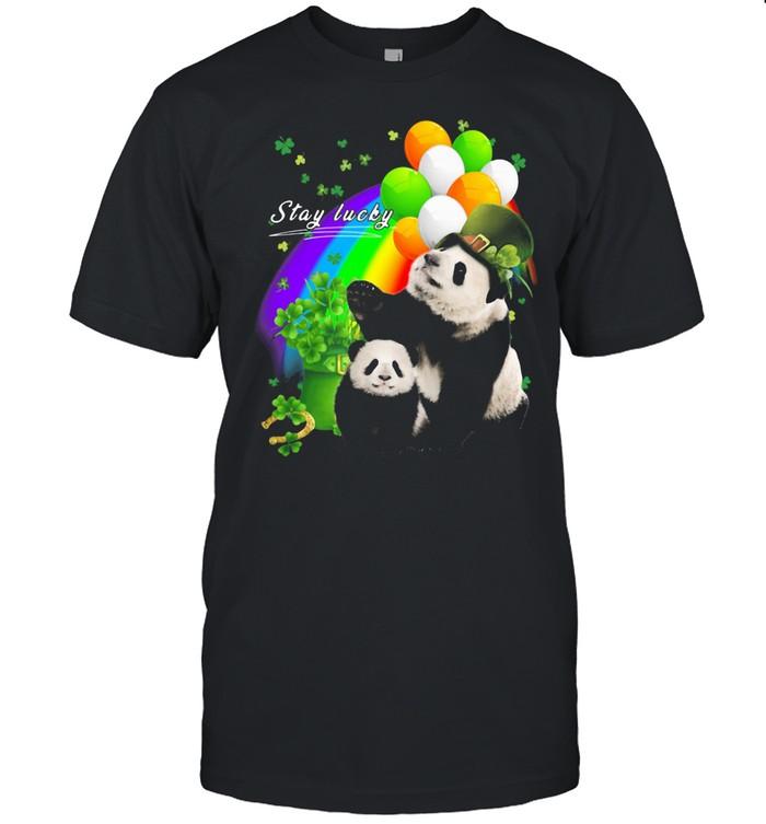 Irish Panda Stay Lucky Rainbow Patrick's Day shirt Classic Men's T-shirt