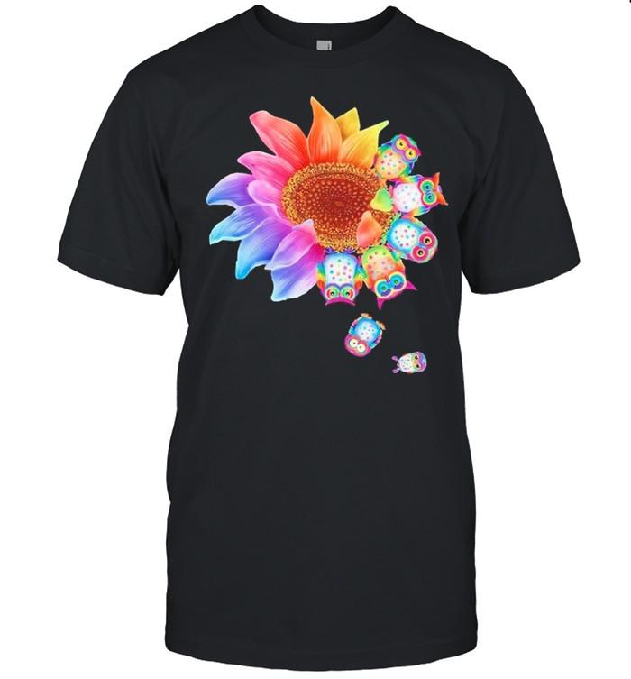 Owl With Flower shirt Classic Men's T-shirt