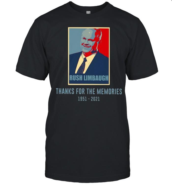Rush Limbaugh Thanks For The Memories 1951 2021 Vintage shirt