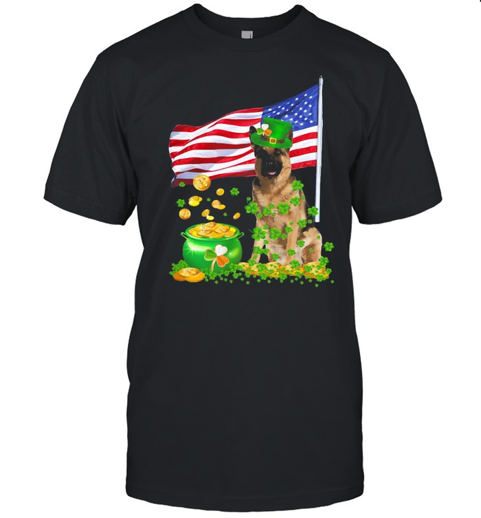 The Dog Ameriacn Flag Irish shirt Classic Men's T-shirt