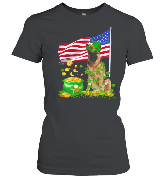 The Dog Ameriacn Flag Irish shirt Classic Women's T-shirt