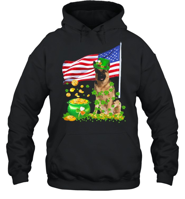 The Dog Ameriacn Flag Irish shirt Unisex Hoodie