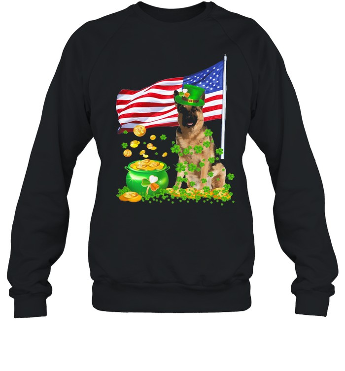 The Dog Ameriacn Flag Irish shirt Unisex Sweatshirt