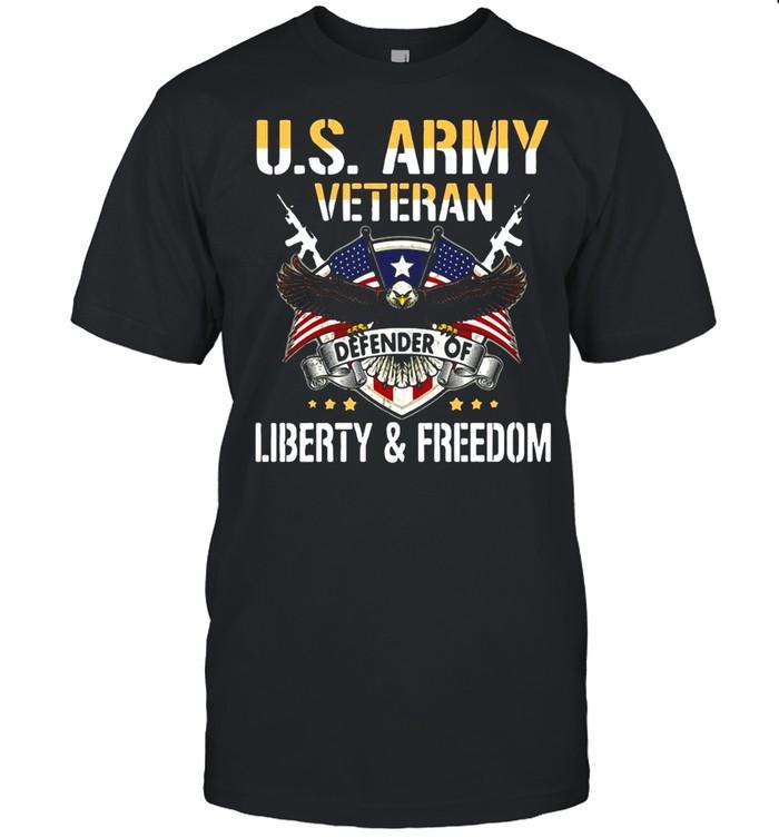 U.S.Army Veteran Defender Of Liberty And Freedom shirt Classic Men's T-shirt