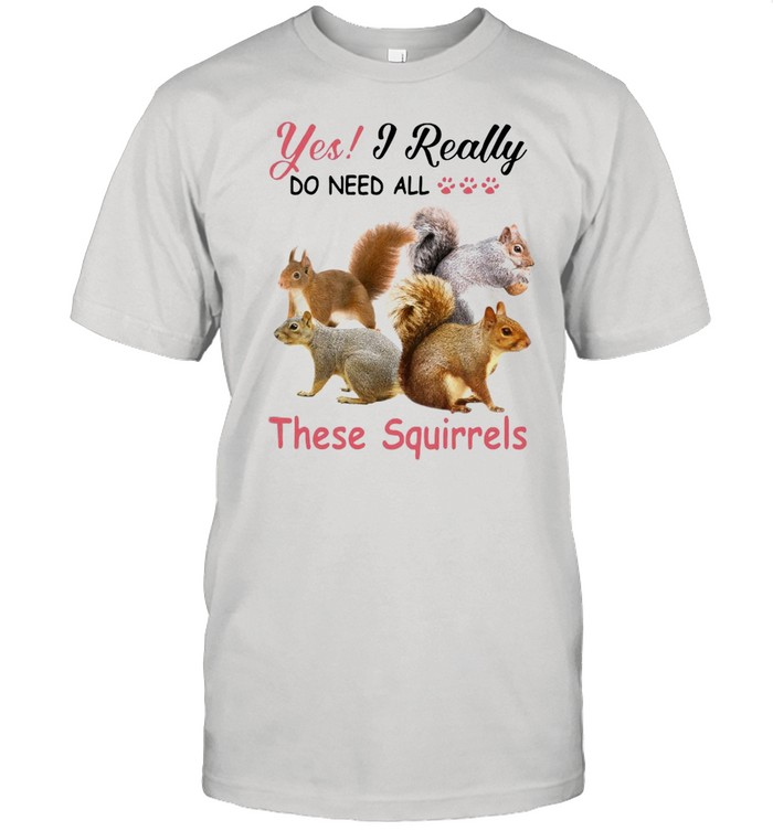 Yes Really Do Need All These Squirrel shirt Classic Men's T-shirt
