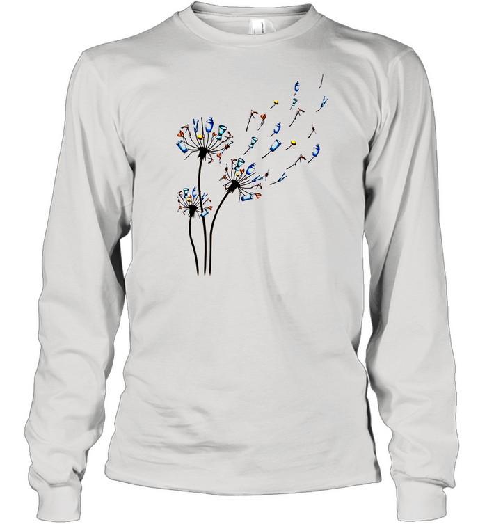 Dandelion Bartender Flower shirt Long Sleeved T-shirt