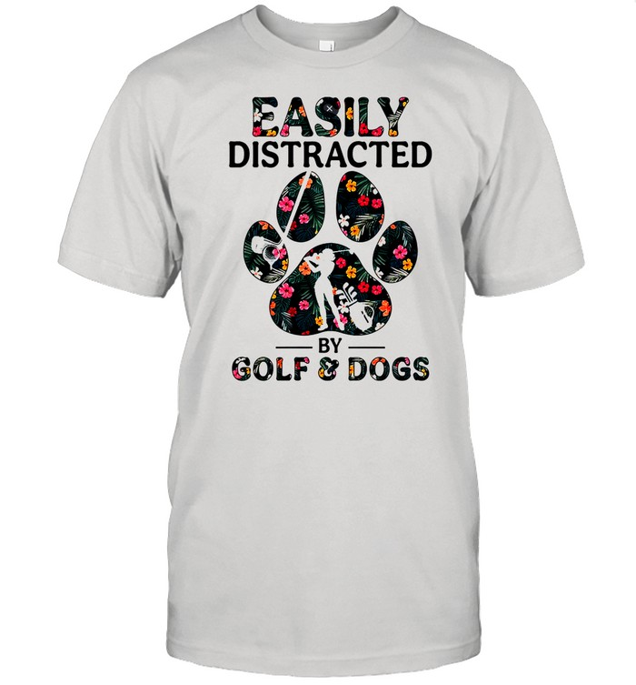 Easily distracted by solf and dogs shirt Classic Men's T-shirt