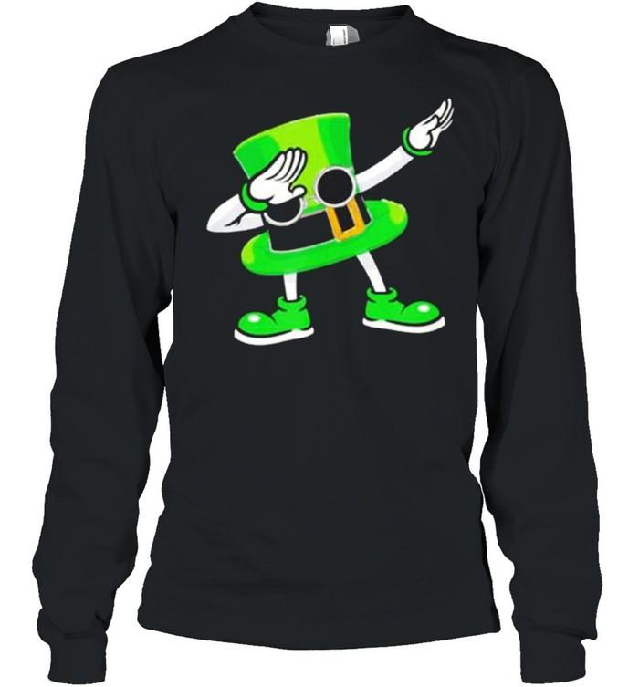 St Patricks Day Dabbing Leprechaun Hat Boys Kids Men Gifts shirt Long Sleeved T-shirt