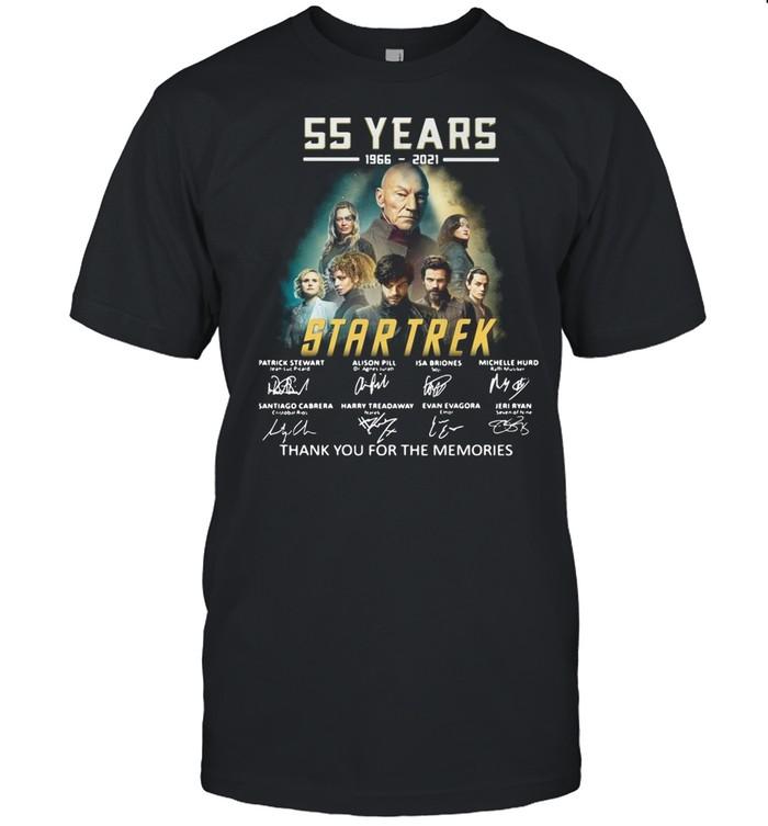 55 years 1966-2021 Star Trek thank you for the memories signatures shirt Classic Men's T-shirt