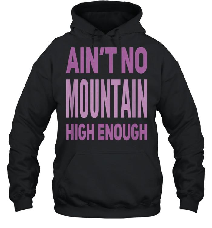 Aint No Mountain High Enough Pick Checkered Effect shirt Unisex Hoodie
