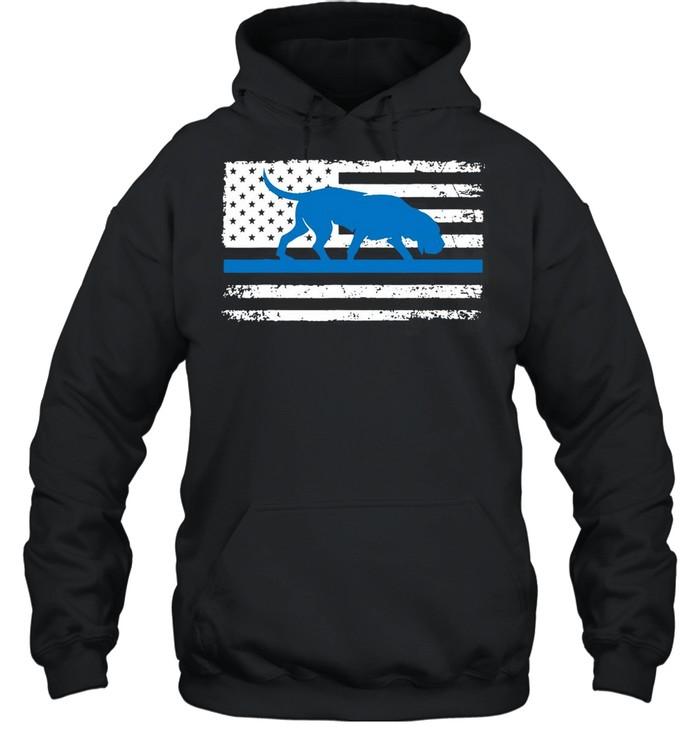 American Flag Bloodhound K9 Police Thin Blue shirt Unisex Hoodie